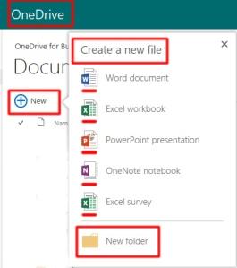 Adding files and folders via OneDrive