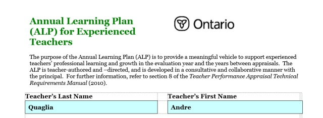 Annual Learning Plan