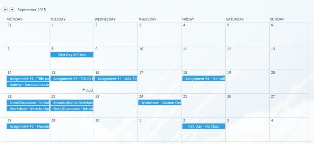 Office 365 Calendar app