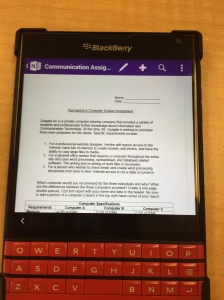 assignment shown in OneNote app